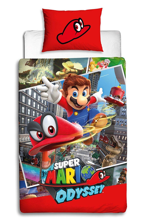 Official-Nintendo-Super-Mario-Licensed-Duvet-Covers-Single-Double-Odyssey-Maker thumbnail 20