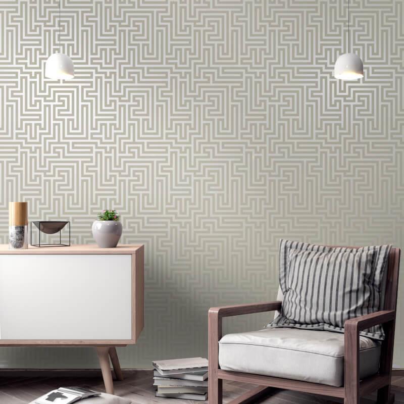 Holden-Decor-Glistening-Maze-Metallic-Wallpaper-5-Colours thumbnail 5