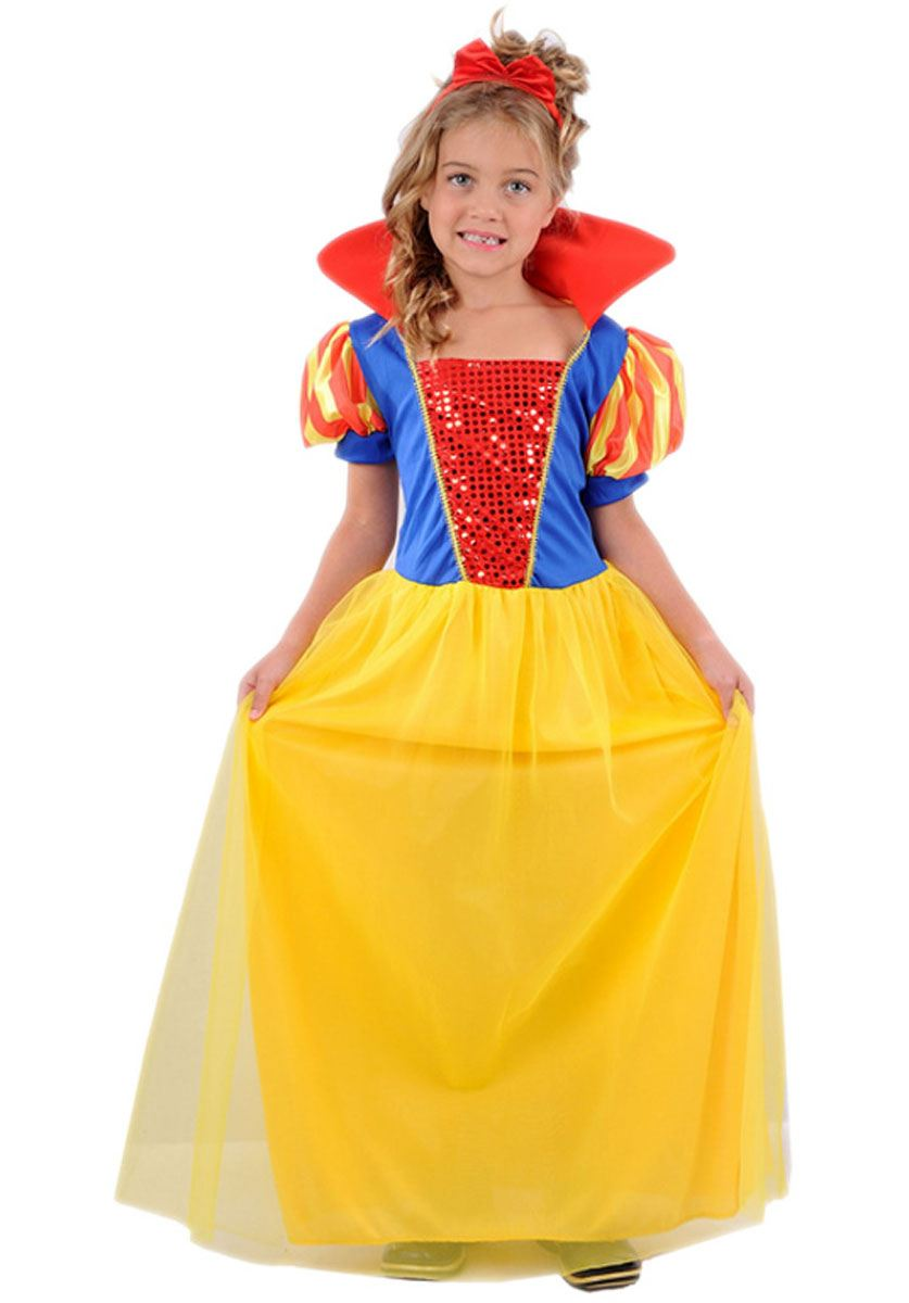 kids girls fancy costume disney princess outfit halloween school