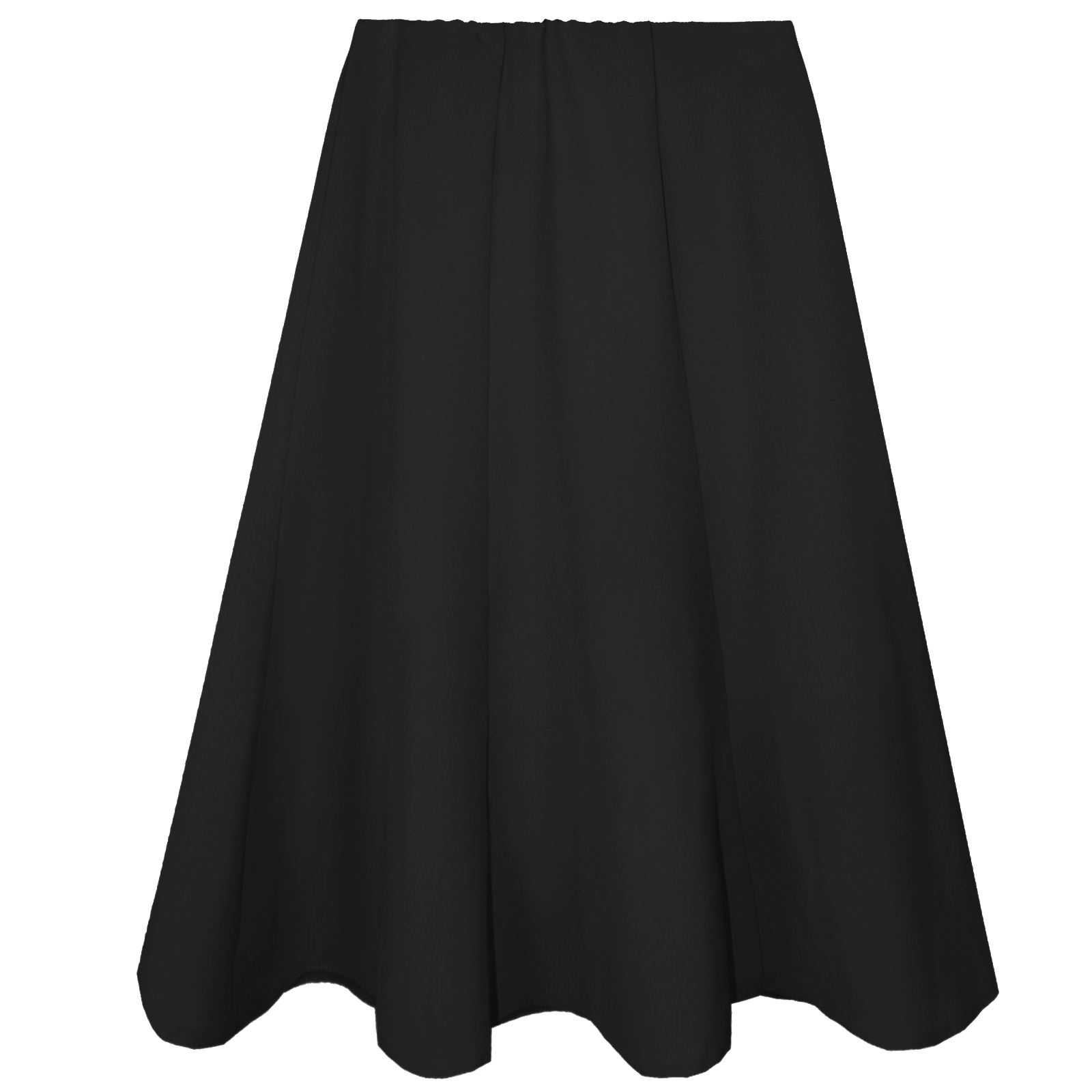 WOMEN-LONG-FLARED-SKIRTS-LADIES-SKATER-SWING-MIDI-ELASTICATED-WAIST-WORK-OFFICE