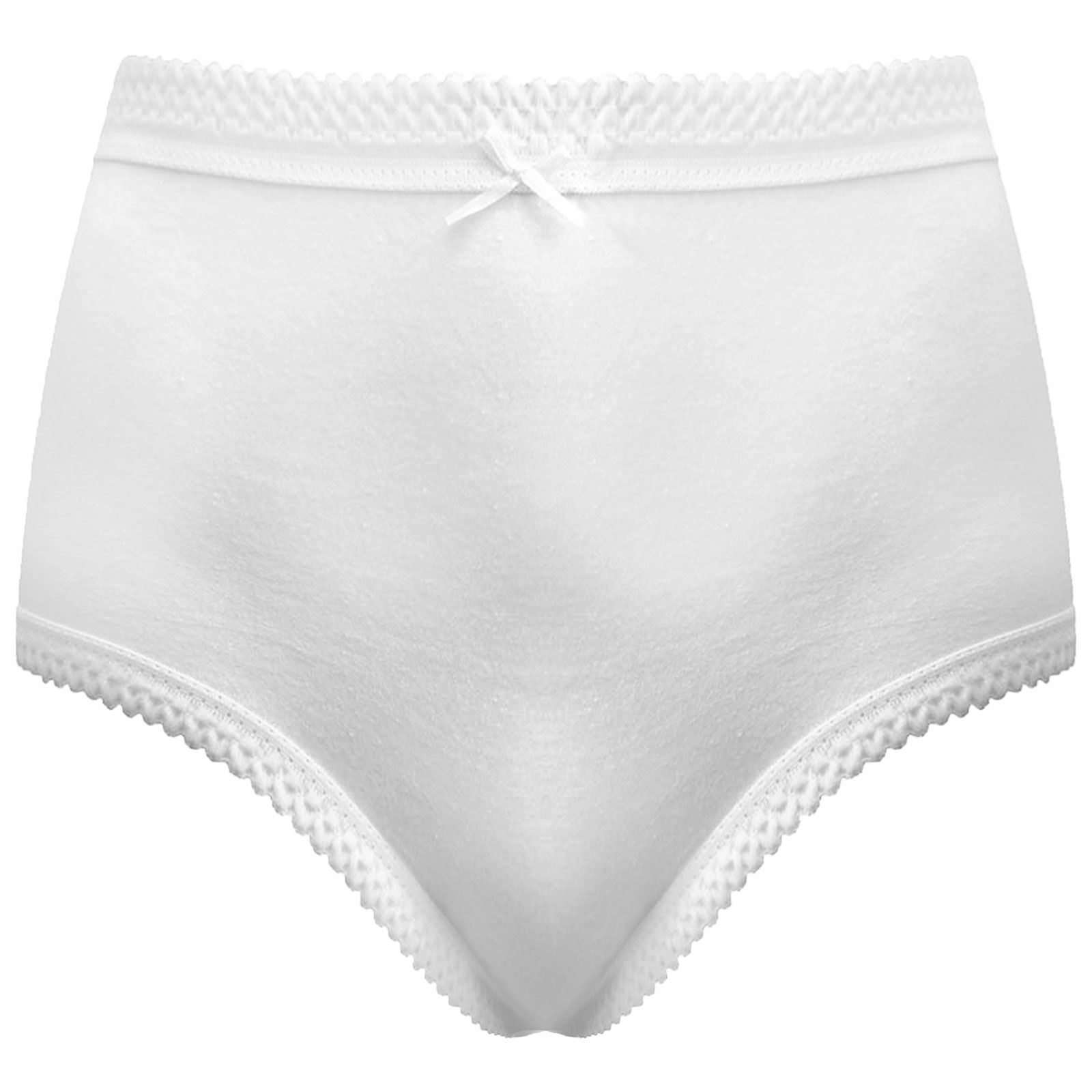 a79840804 WHITE LADIES WOMENS MAXI BRIEFS KNICKERS UNDERWEAR FULL MAMA PANTIES ...