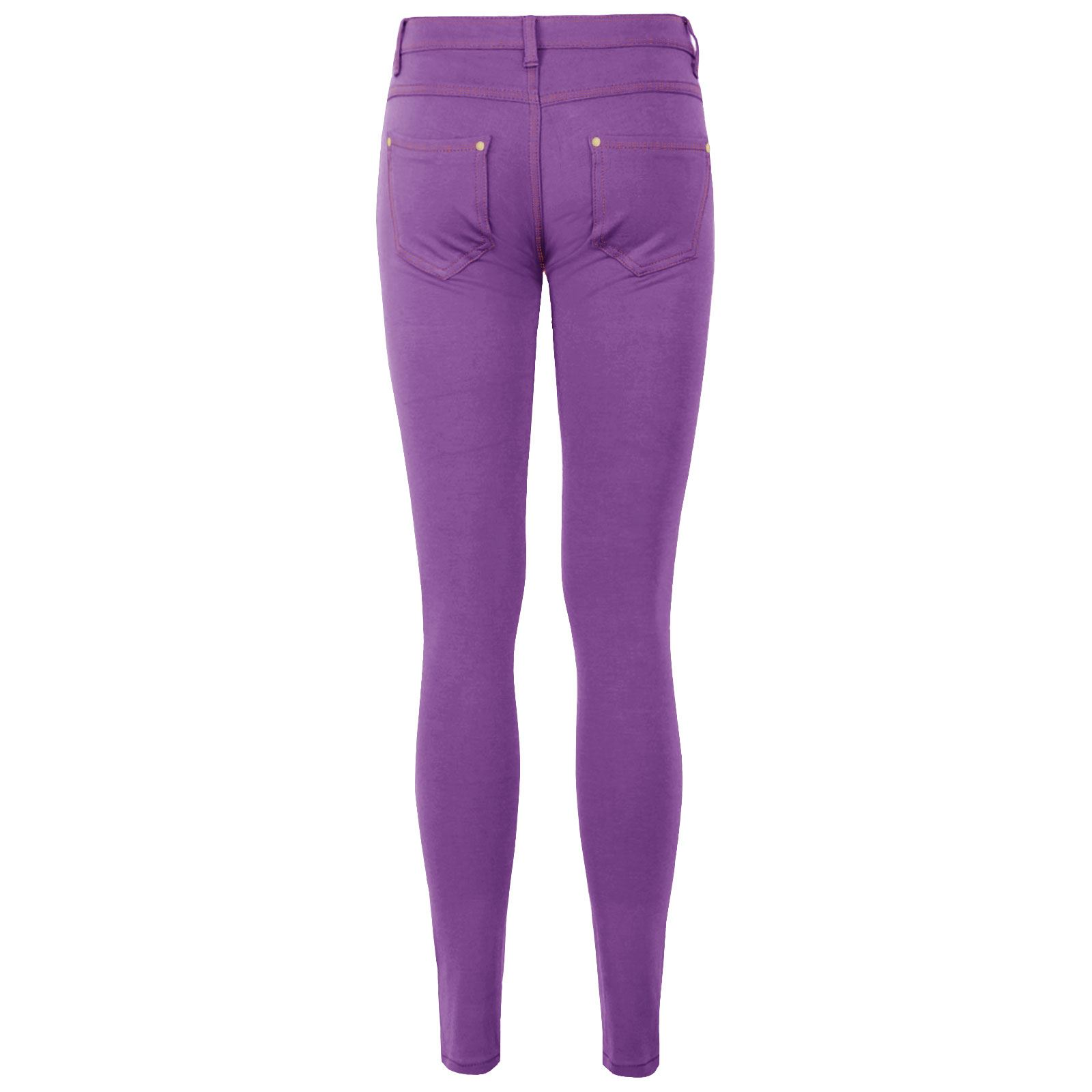 af62152d8b8fd0 WOMENS SKINNY JEANS STRETCHY JEGGINGS LADIES FIT COLOURED TROUSERS ...