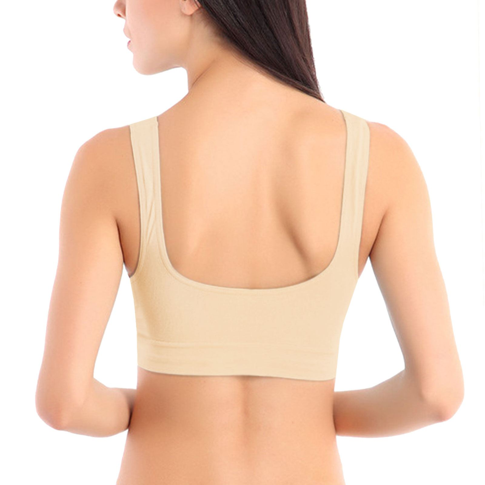 932e7a56e9 Non-padded Womens Ladies Seamless Bra Sports Leisure Crop Top Vest ...