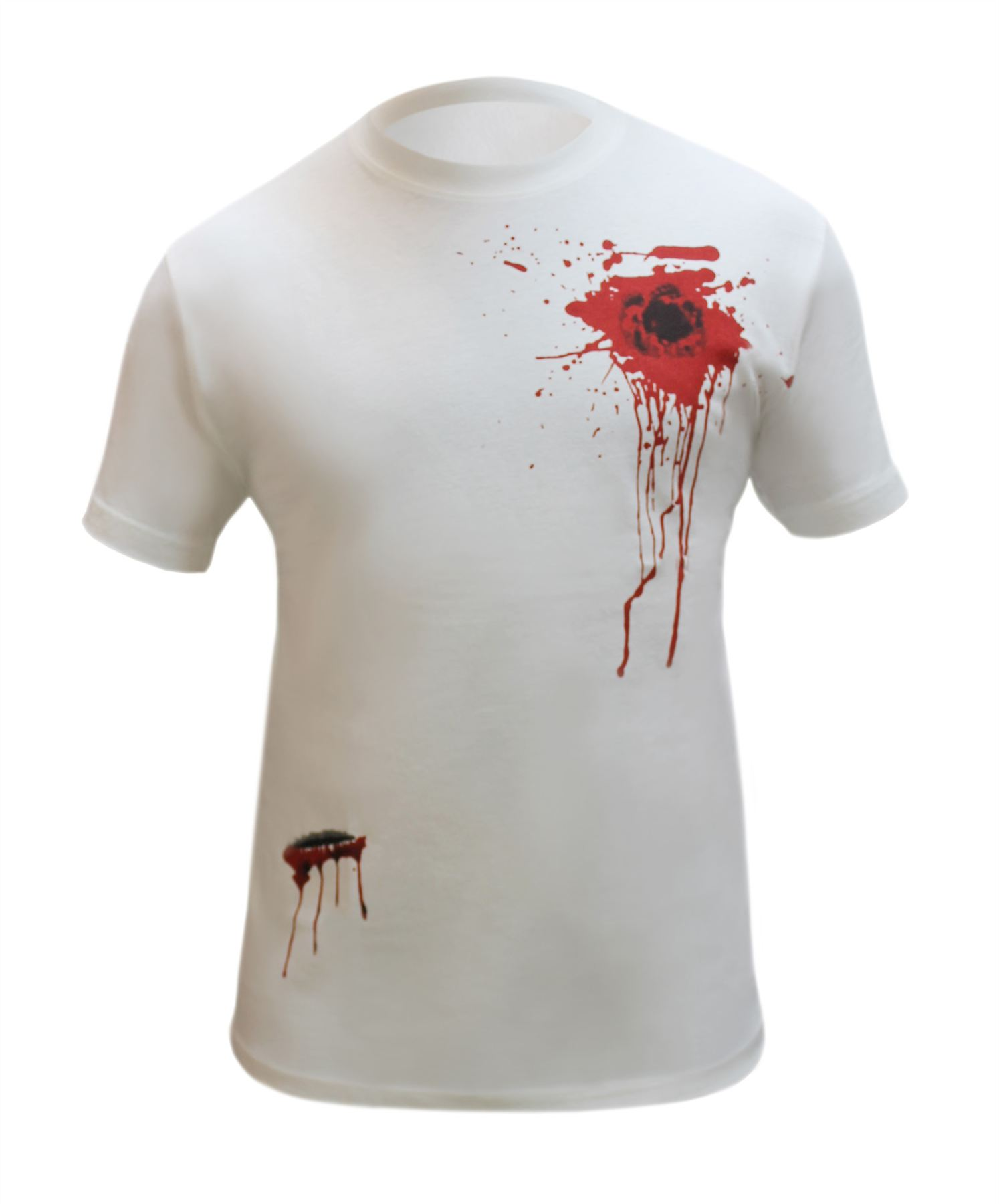 halloween scary horror blood tops t-shirt wound bleeding bullet