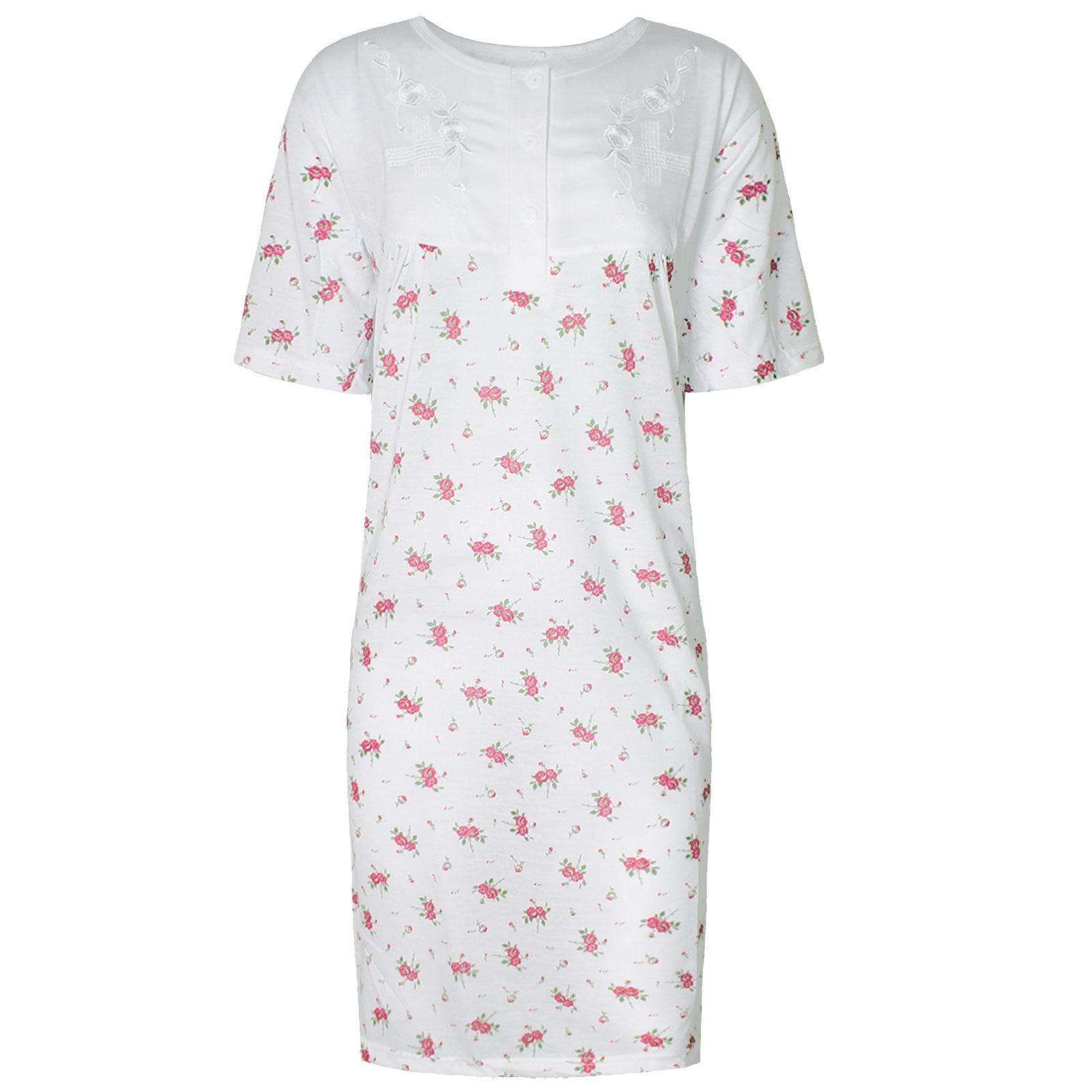 Black t shirt nightdress - Ladies Nightie Short Sleeves Night Shirt Nightdress Womens