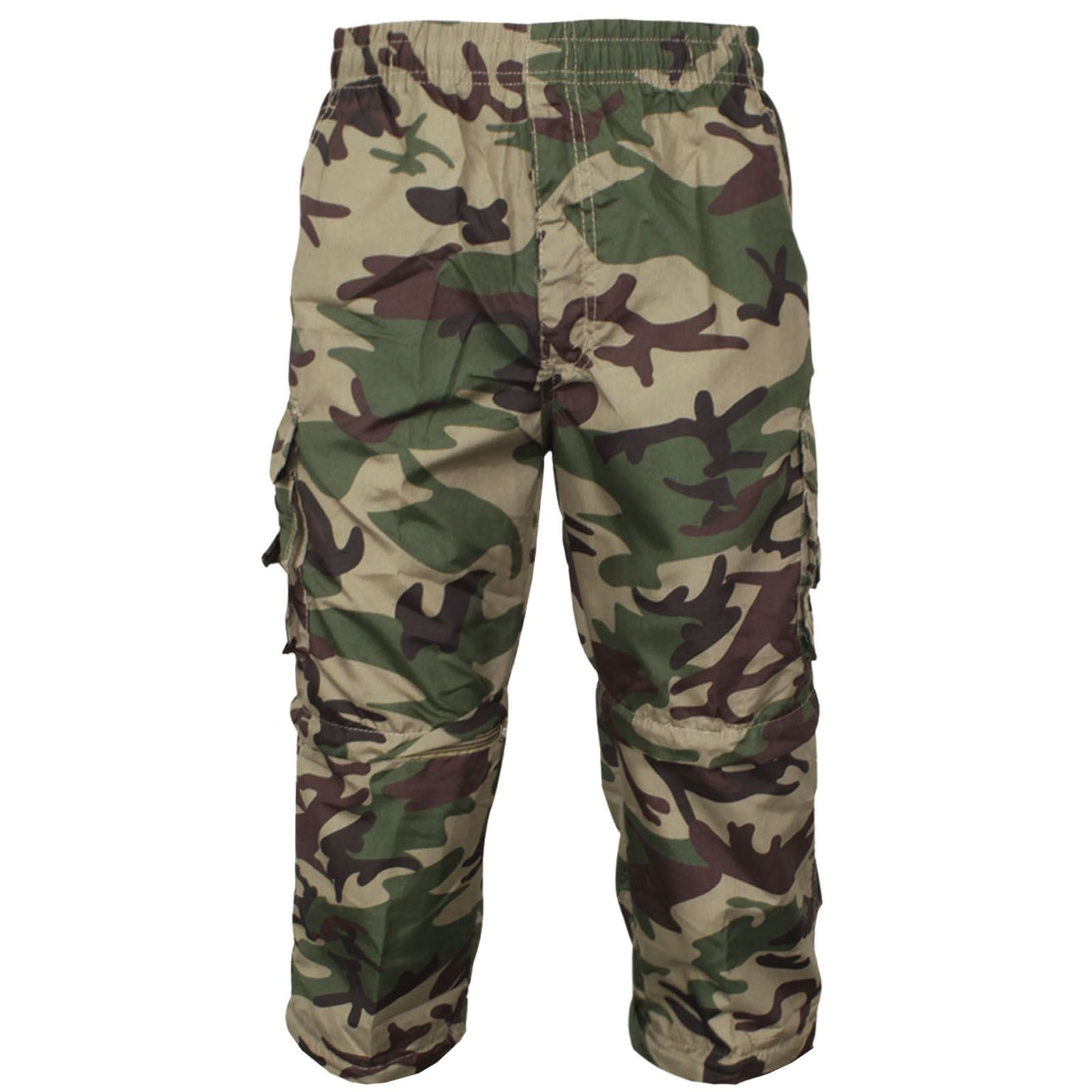 MENS-2-IN-1-CAMOUFLAGE-SHORTS-ARMY-ZIP-OFF-COMBAT-CARGO-TROUSERS-WORK-PANT-S-2XL thumbnail 3