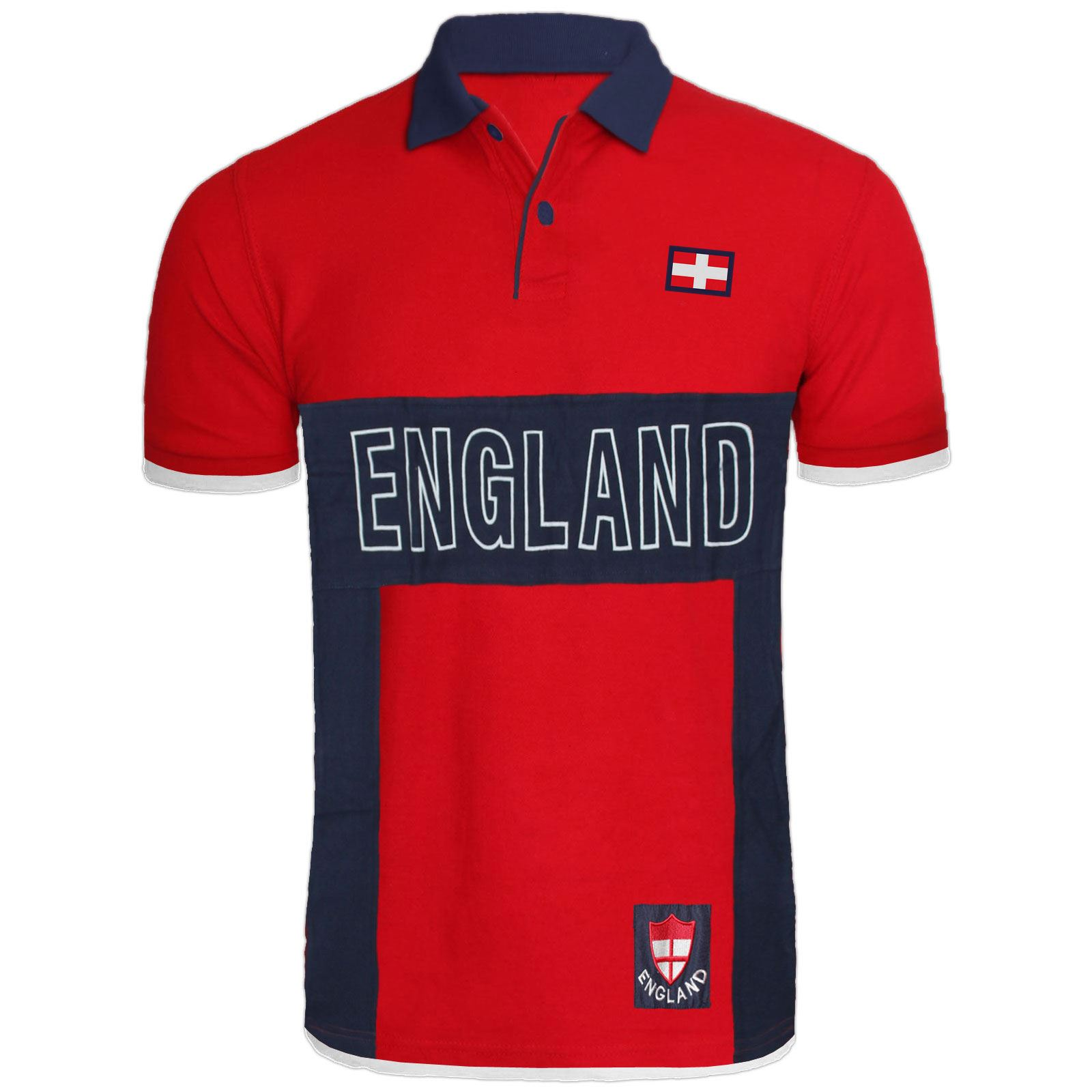 MENS-ENGLAND-TOP-POLO-T-SHIRTS-SHORT-SLEEVE-SPORTS-CRICKET-FOOTBALL-GOLF-TEES thumbnail 2