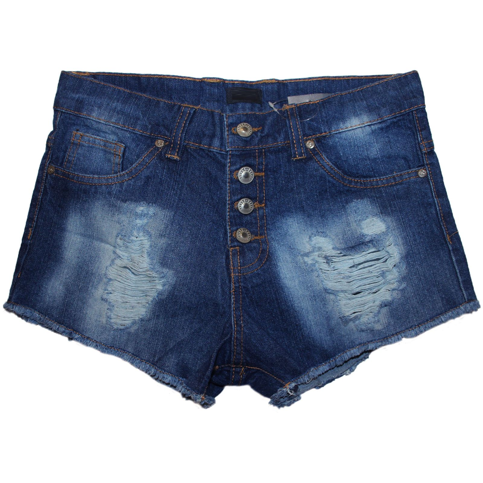 e02559fbe66 ... Shorts High Waisted Ladies Girls Jeans Ripped Summer Hot Pants Blue  Wash 32. About this product. Picture 1 of 3; Picture 2 of 3 ...