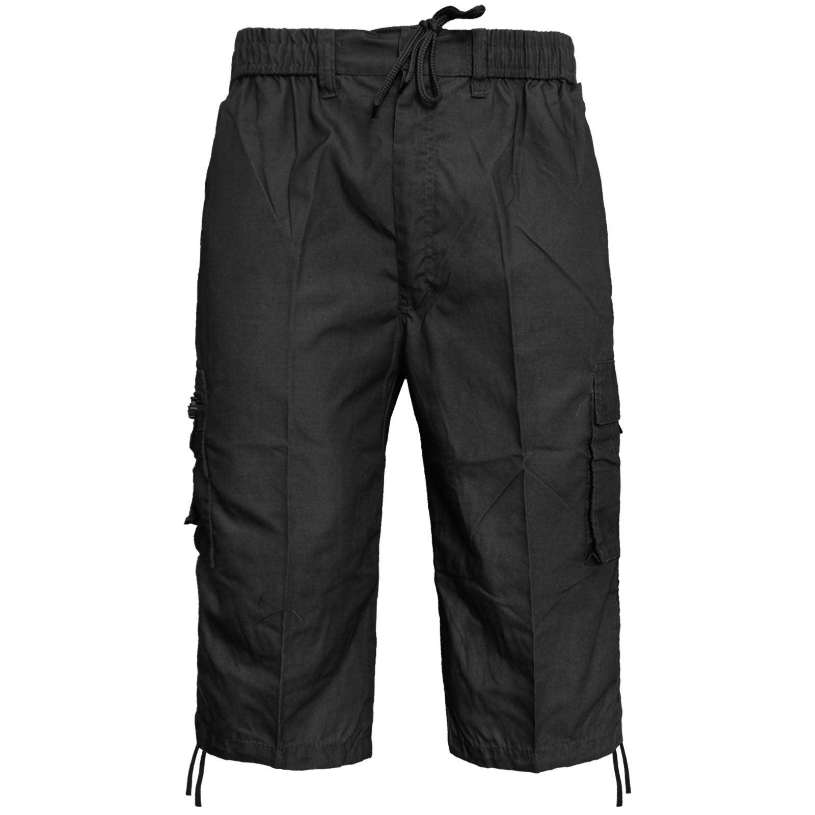 Homme Shorts 34 Cargo Poche Pour Élastique Combat Plage Short qUzMpSV