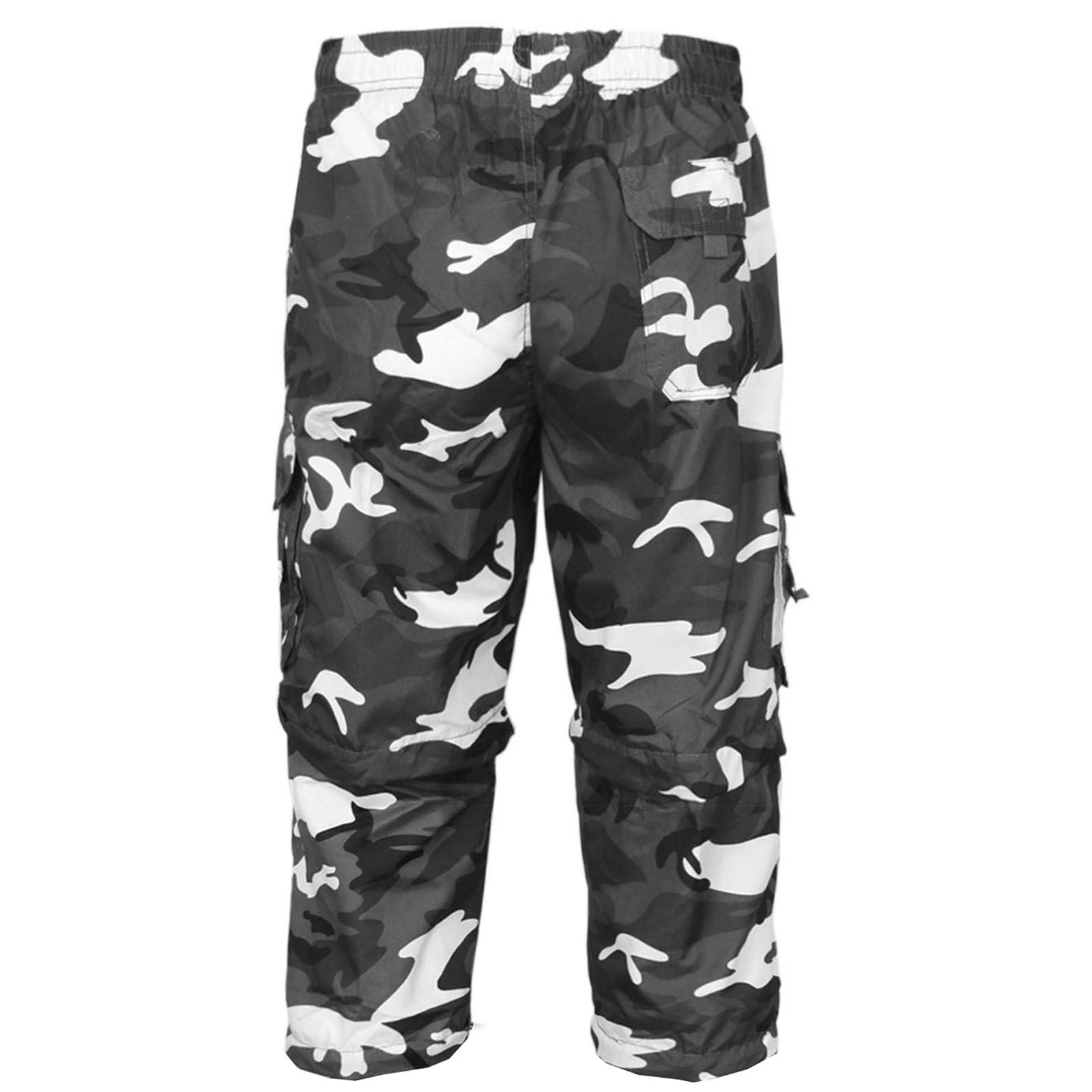 MENS-2-IN-1-CAMOUFLAGE-SHORTS-ARMY-ZIP-OFF-COMBAT-CARGO-TROUSERS-WORK-PANT-S-2XL thumbnail 7