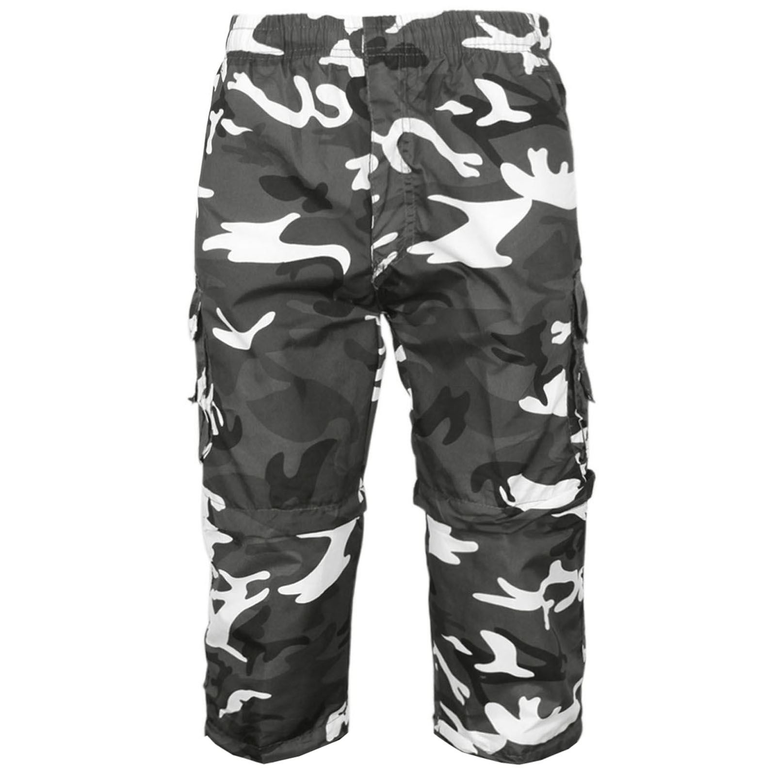 MENS-2-IN-1-CAMOUFLAGE-SHORTS-ARMY-ZIP-OFF-COMBAT-CARGO-TROUSERS-WORK-PANT-S-2XL thumbnail 6