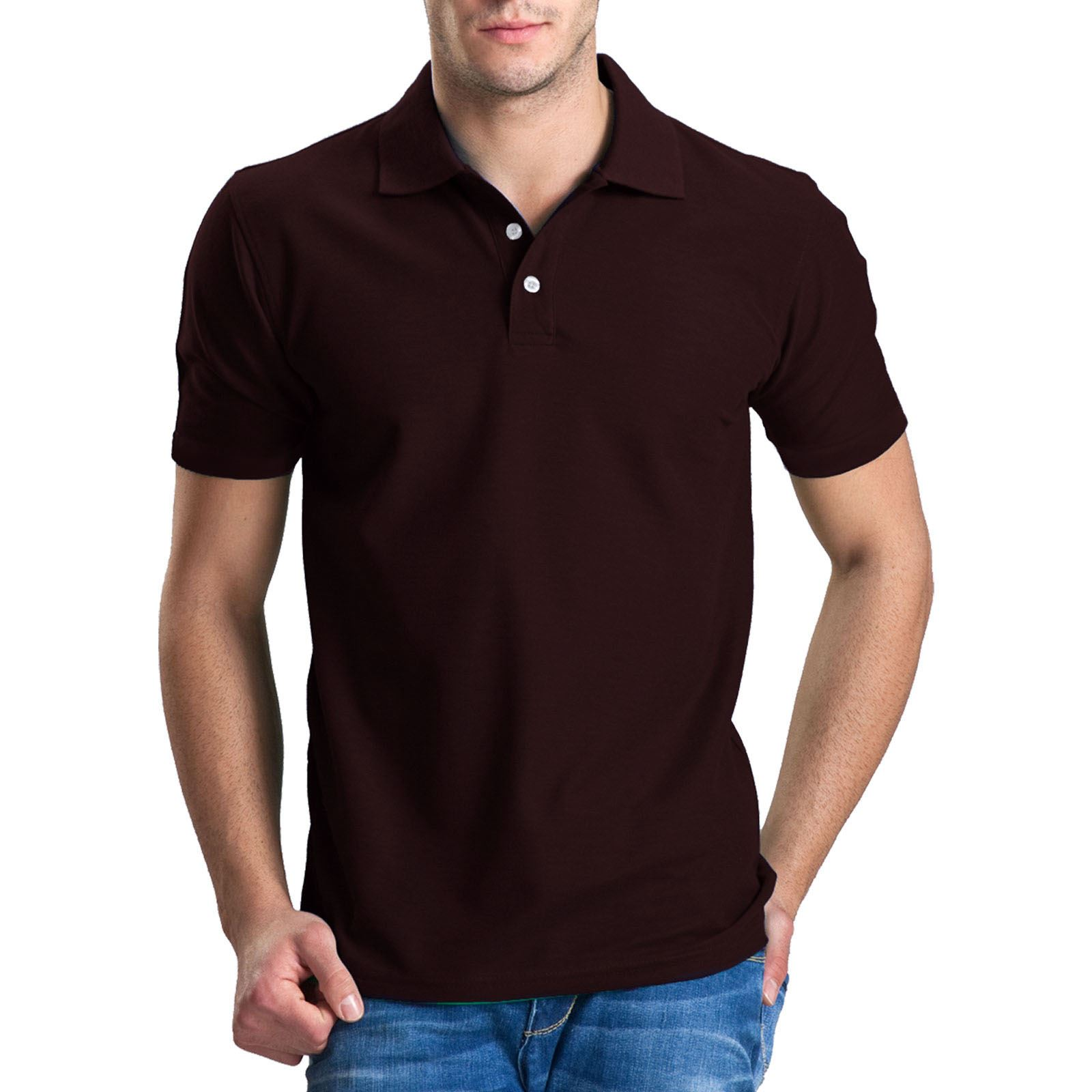 s xxl mens polo tops t shirts short sleeves tees pique collar sports golf tennis ebay. Black Bedroom Furniture Sets. Home Design Ideas