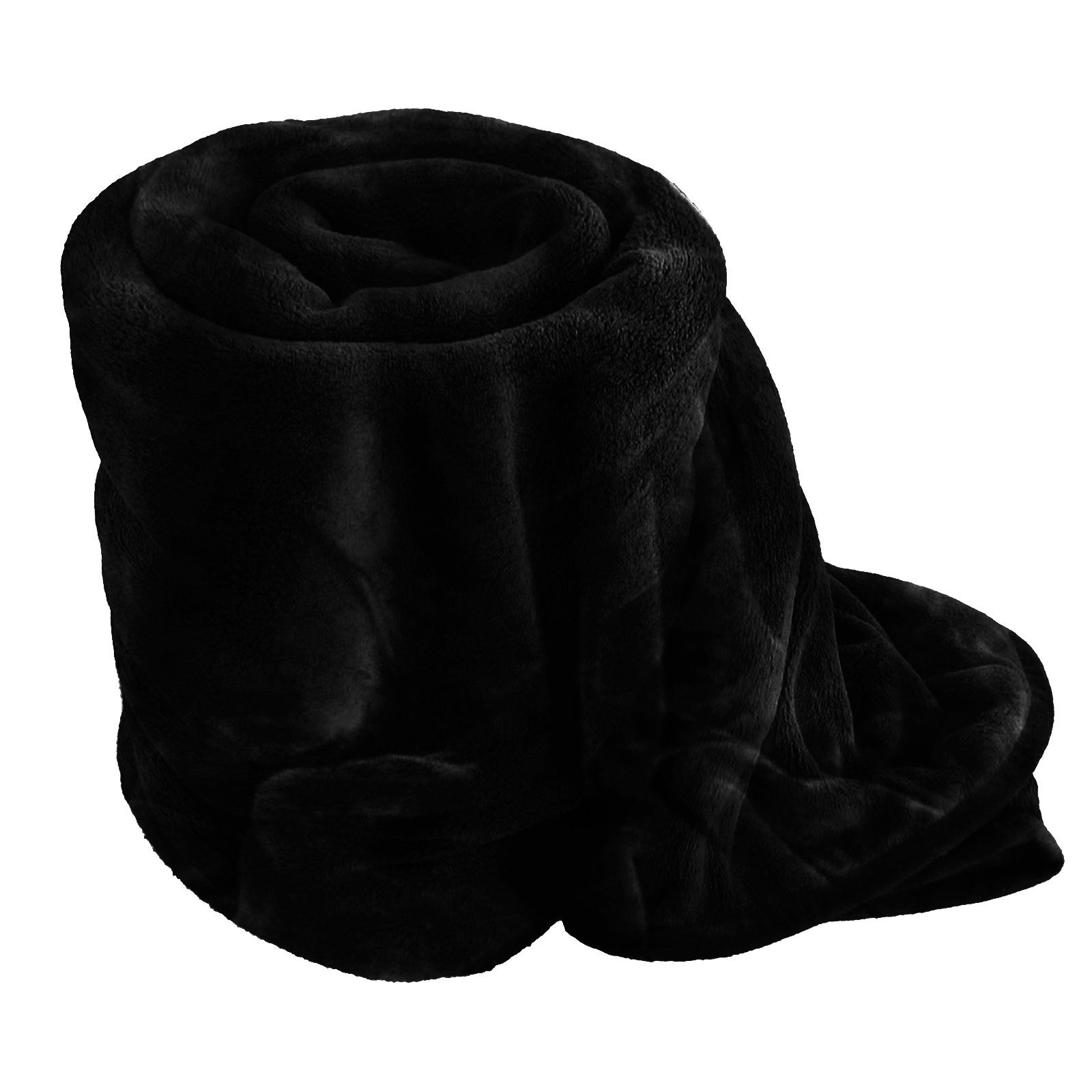 LUXURY FAUX FUR THROW BLANKET BED SOFA SOFT WARM FLEECE BED SINGLE ...