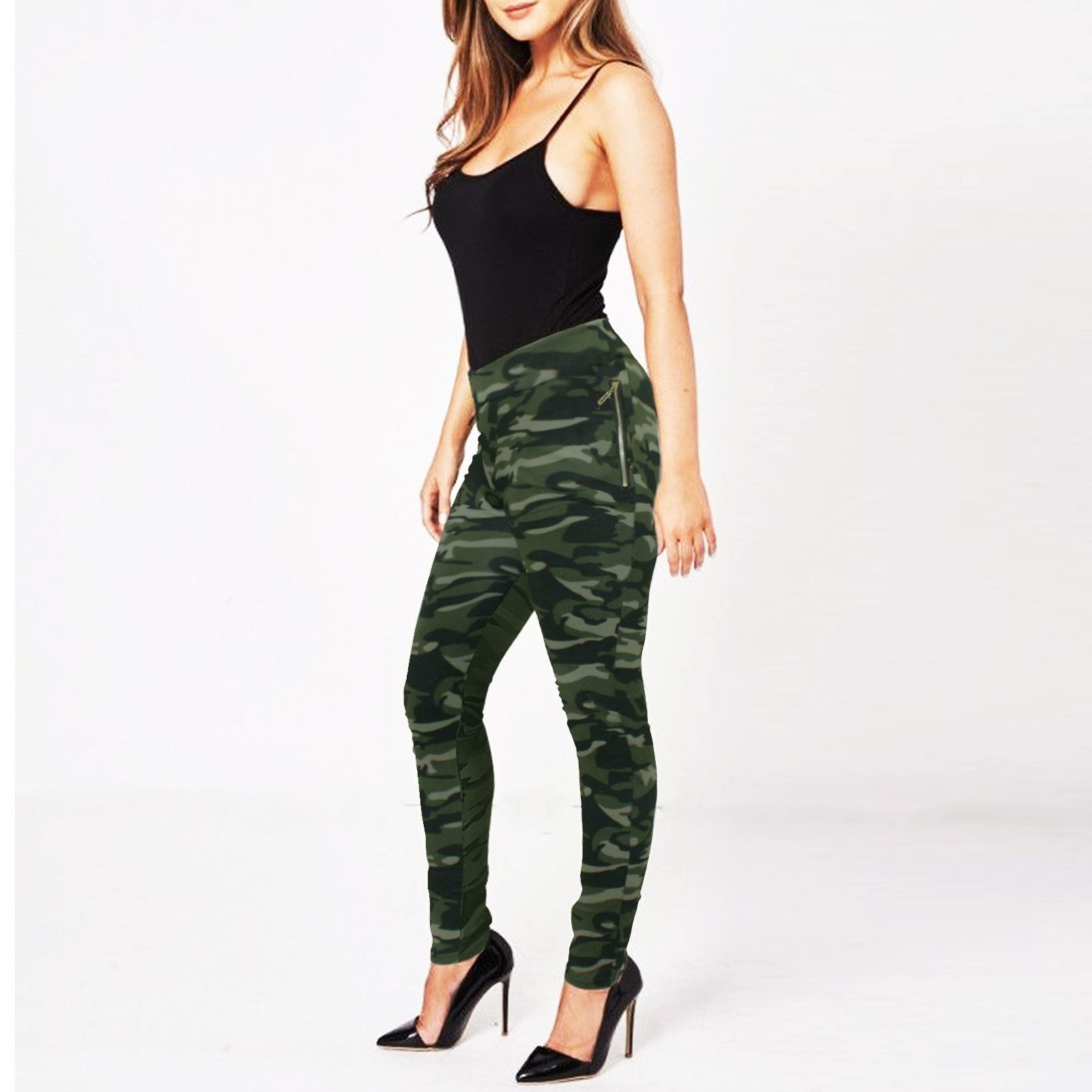 f27a76ae0291c WOMENS CAMOUFLAGE TROUSERS JOGGING BOTTOMS GIRLS LADIES TRACKSUIT ...