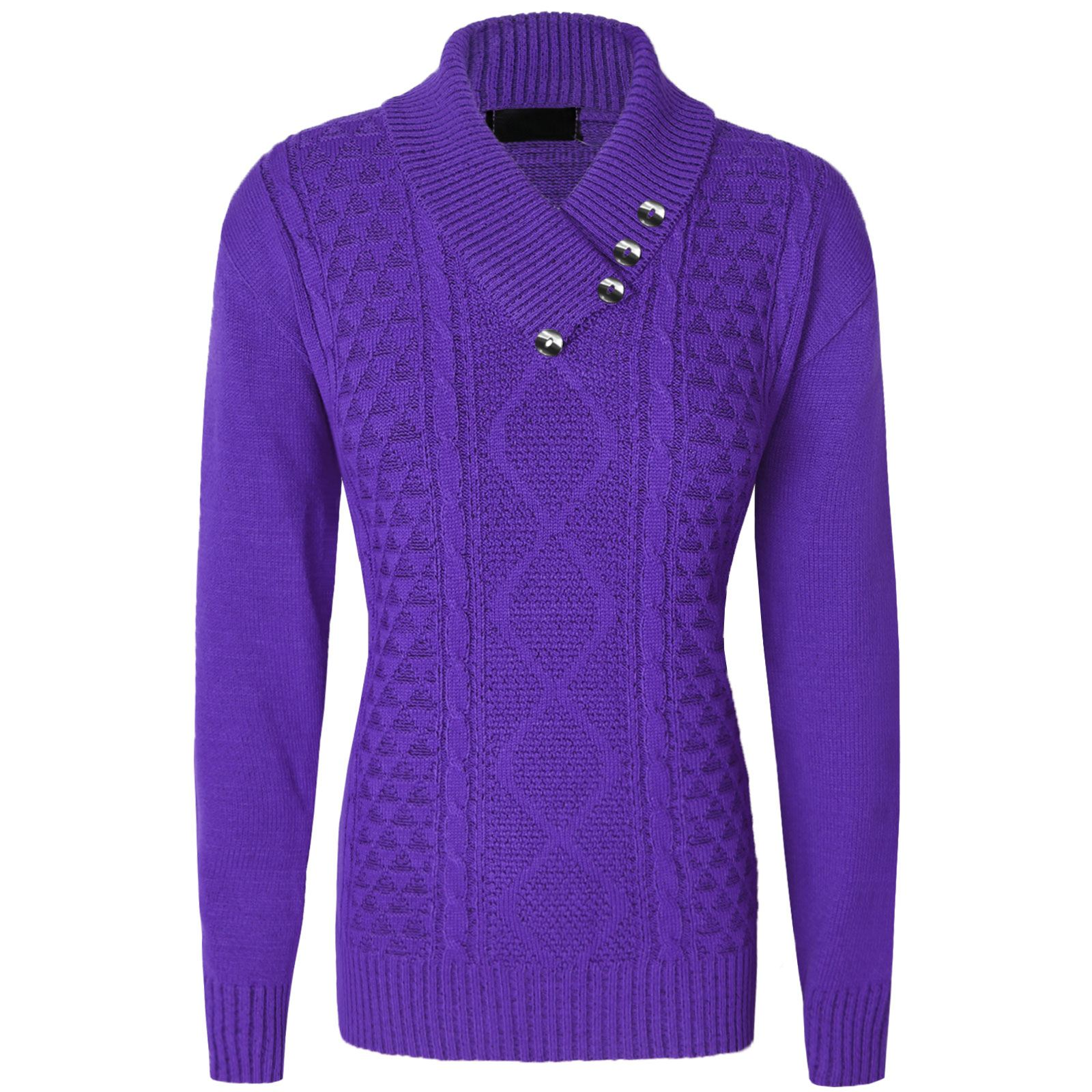 ... Sleeve Knitted Sweater Tops Purple M l. About this product. Picture 1  of 2  Picture 2 of 2 0c00a7513