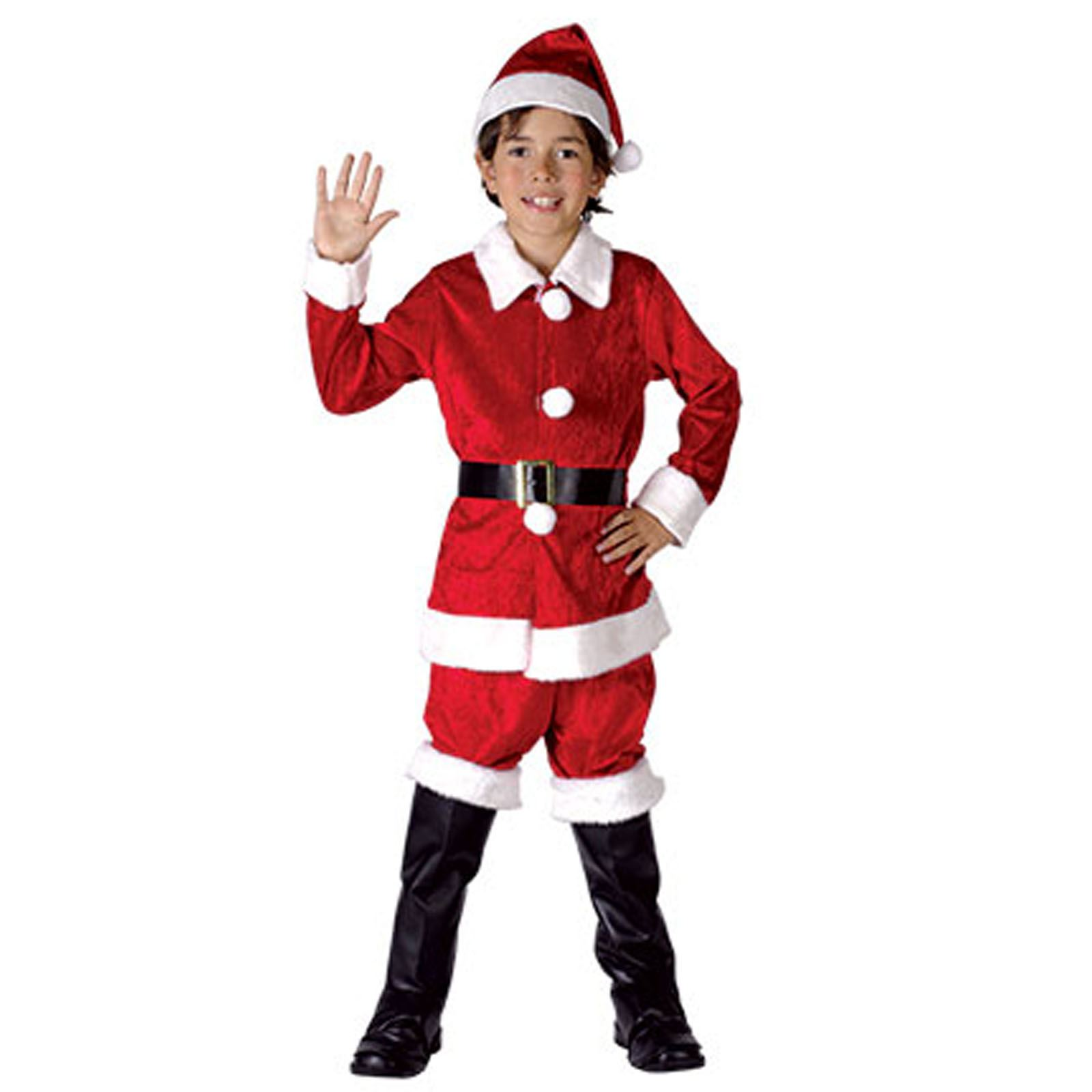 kids christmas costume boys child santa claus elf xmas outfit suit