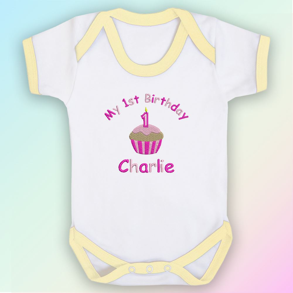 My-1st-Birthday-Cake-Girl-Embroidered-Baby-Vest-Gift-Personalised-First