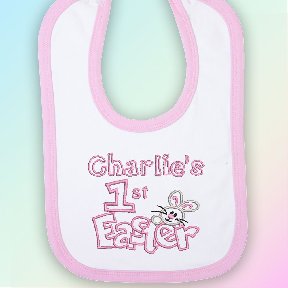 Name-1st-Easter-Bunny-Embroidered-Baby-Bib-Gift-Personalised-First-Rabbit-Boy