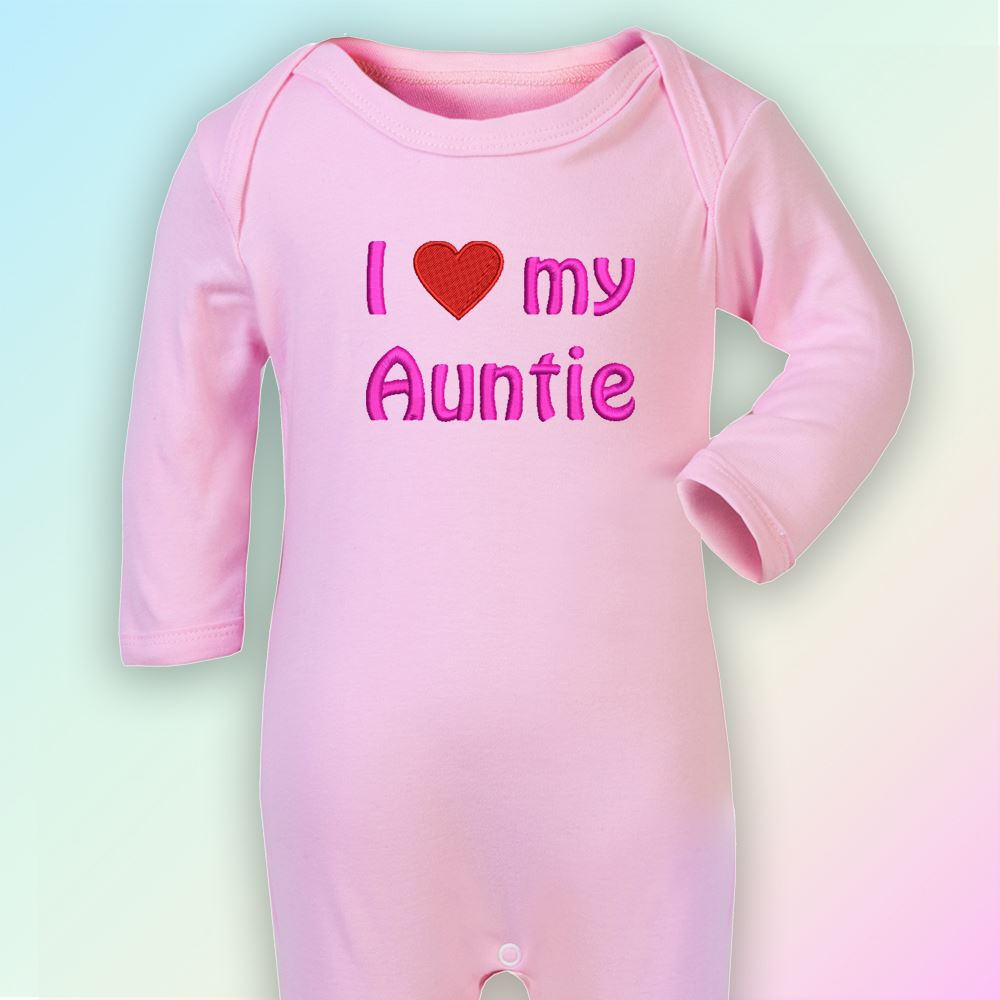 Be Jealous I Have The Best Auntie Embroidered Baby Romper Babygrow Gift