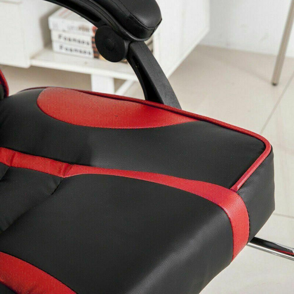 Silla-para-juegos-con-reclinable-silla-de-oficina-de-Carreras-Reposapies-Computadora-Escritorio miniatura 18