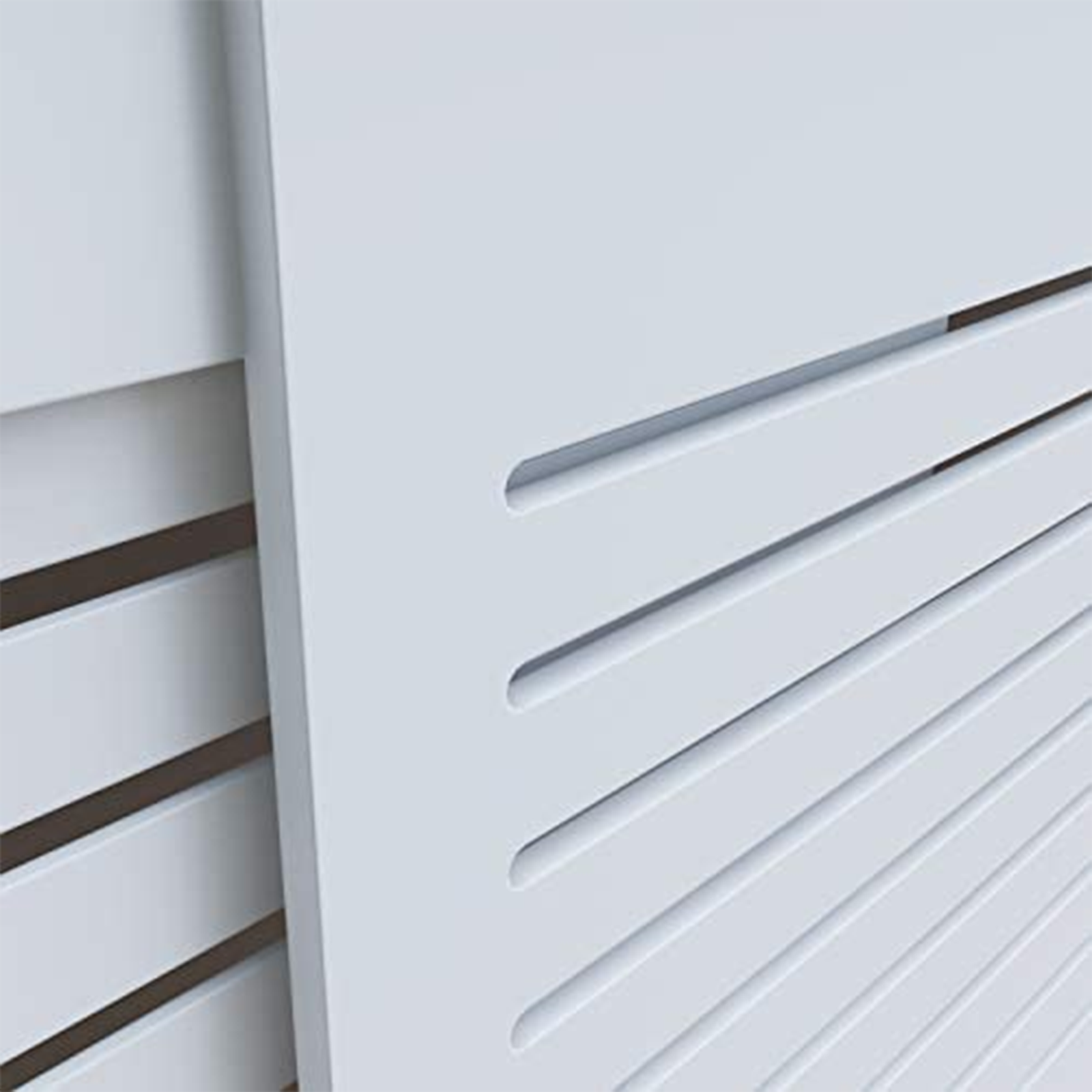 White-Radiator-Cover-Cabinet-Small-Large-Modern-MDF-Slat-Wood-Grill-Furniture miniatuur 23