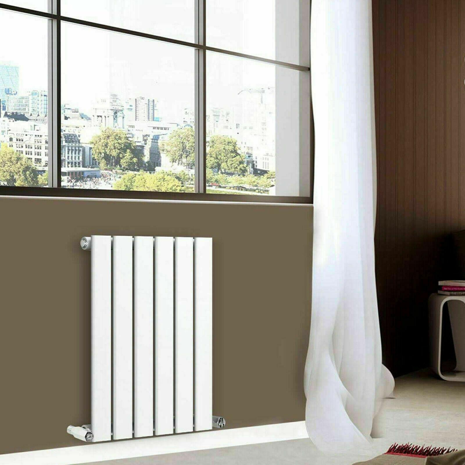 Modern Bedroom Radiator White Tall Double Flat Panel 1600 X 376 Water Heating Uk For Sale Ebay