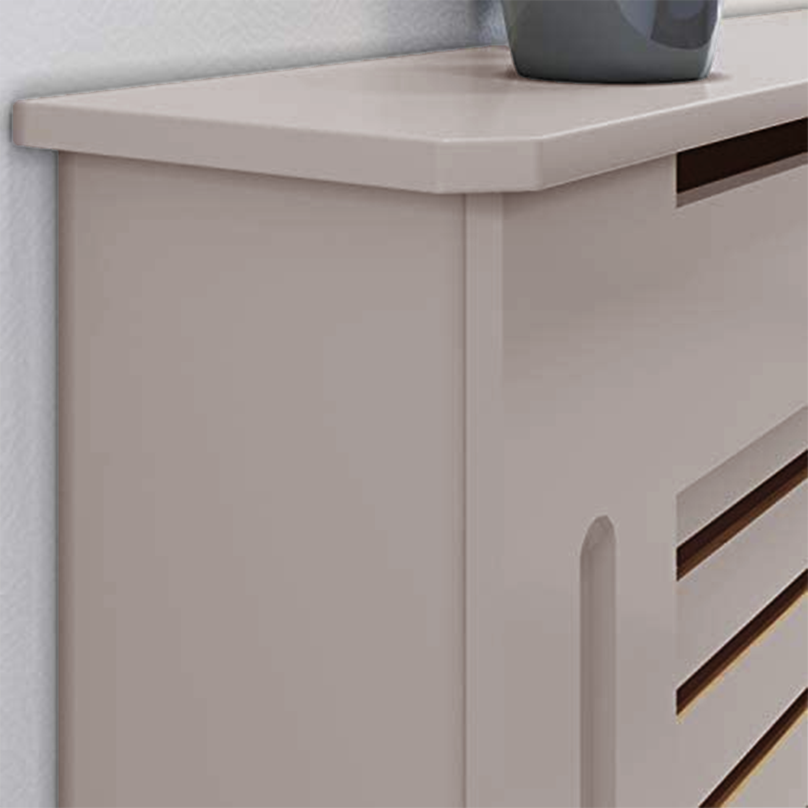 White-Radiator-Cover-Cabinet-Small-Large-Modern-MDF-Slat-Wood-Grill-Furniture miniatuur 52