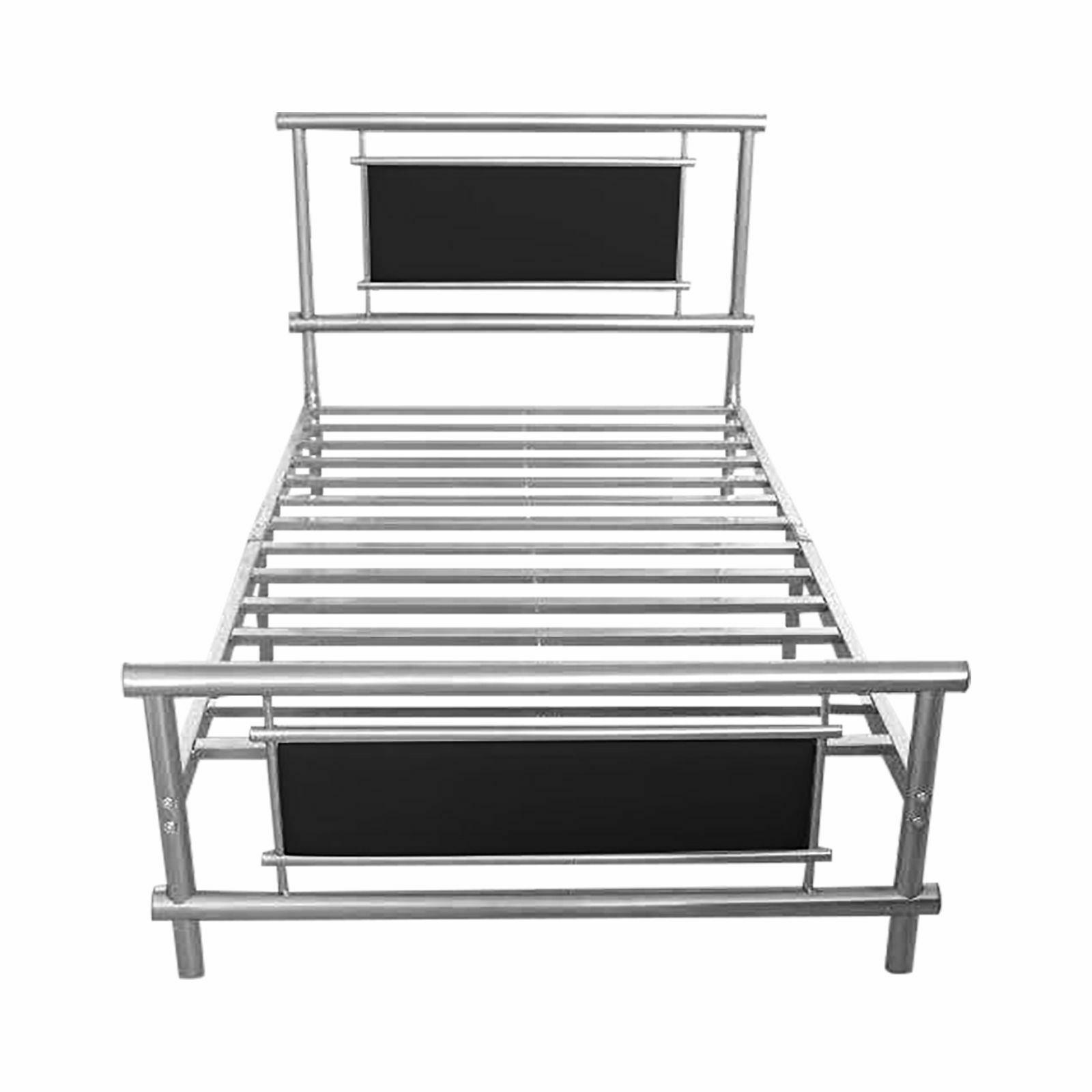 Metal Bed Frame | Single King Size Double Beds Steel 4 FT ...