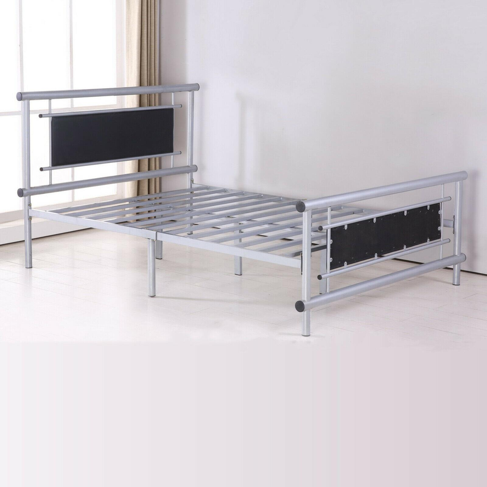 Luxury Metal Bed Frame Single King Size Double Beds 3 4FT ...