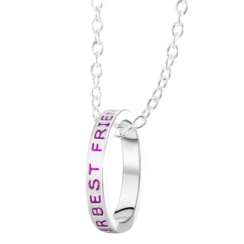 BEST FRIEND SILVER PLATED NECKLACE PENDANT PRESENT gift for my friend girlfriend