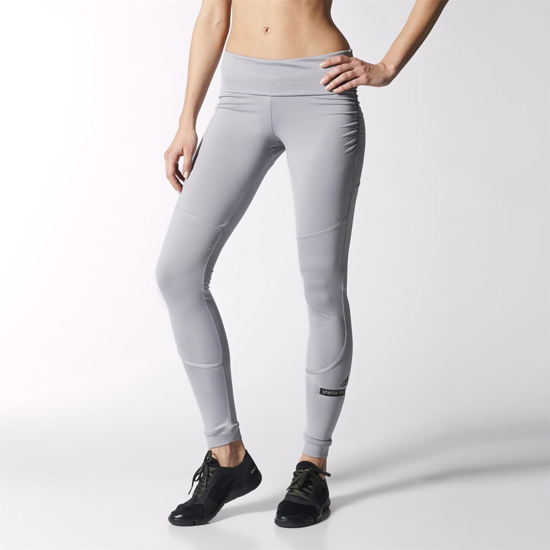 64c3705a2db60 Details about Adidas Women's Original Stella McCartney Fitness Leggings for  Yoga - GREY LARGE