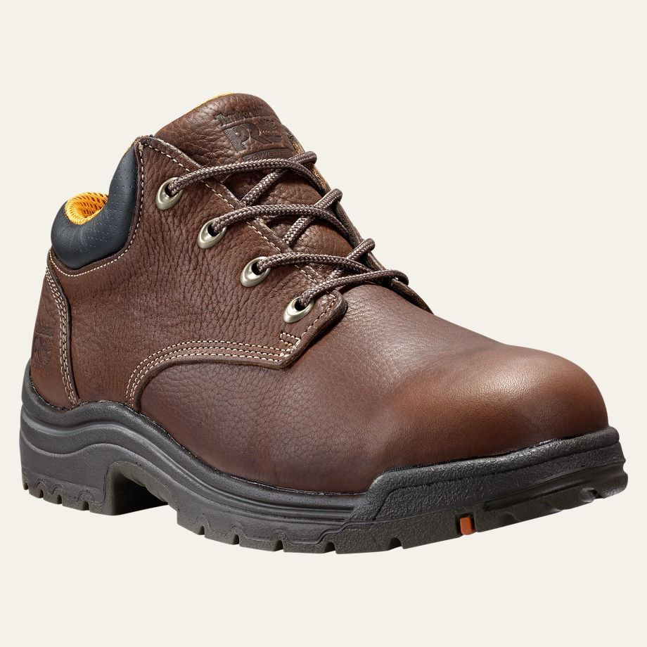Men's Timberland PRO TiTAN Oxford Safety Toe, Size: 11 W, Haystack Brown Oiled Leather