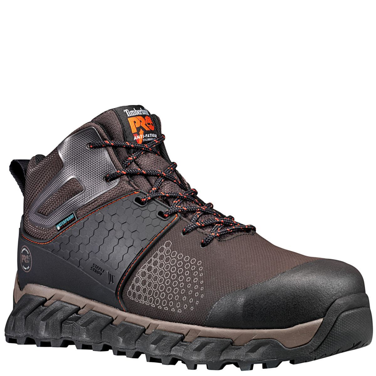 3aab5a3270e Details about Timberland Boots Men Ridgework Composite safety Toe  Waterproof BRN Leather A1KBO