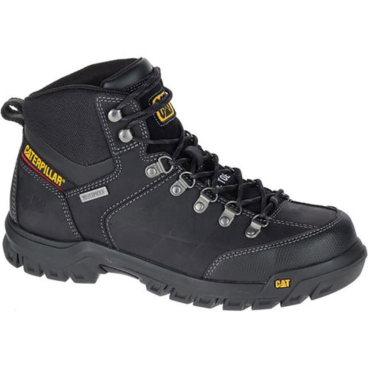 Men's Caterpillar Threshold Waterproof Boot, Size: 8 M, Black Leather