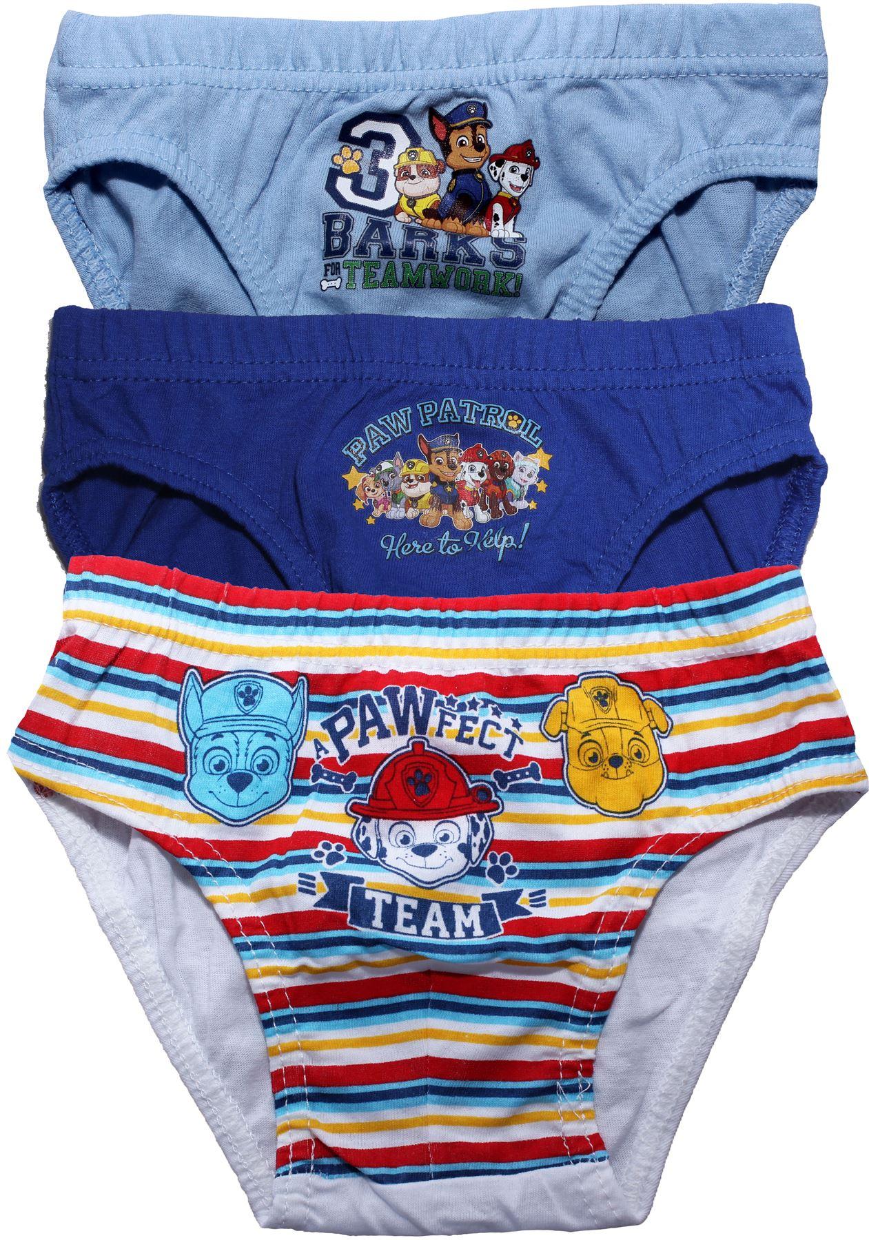 Boys Kids Paw Patrol Chase Pants Underwear Briefs Knickers Set 1-5 Years 3 Pack