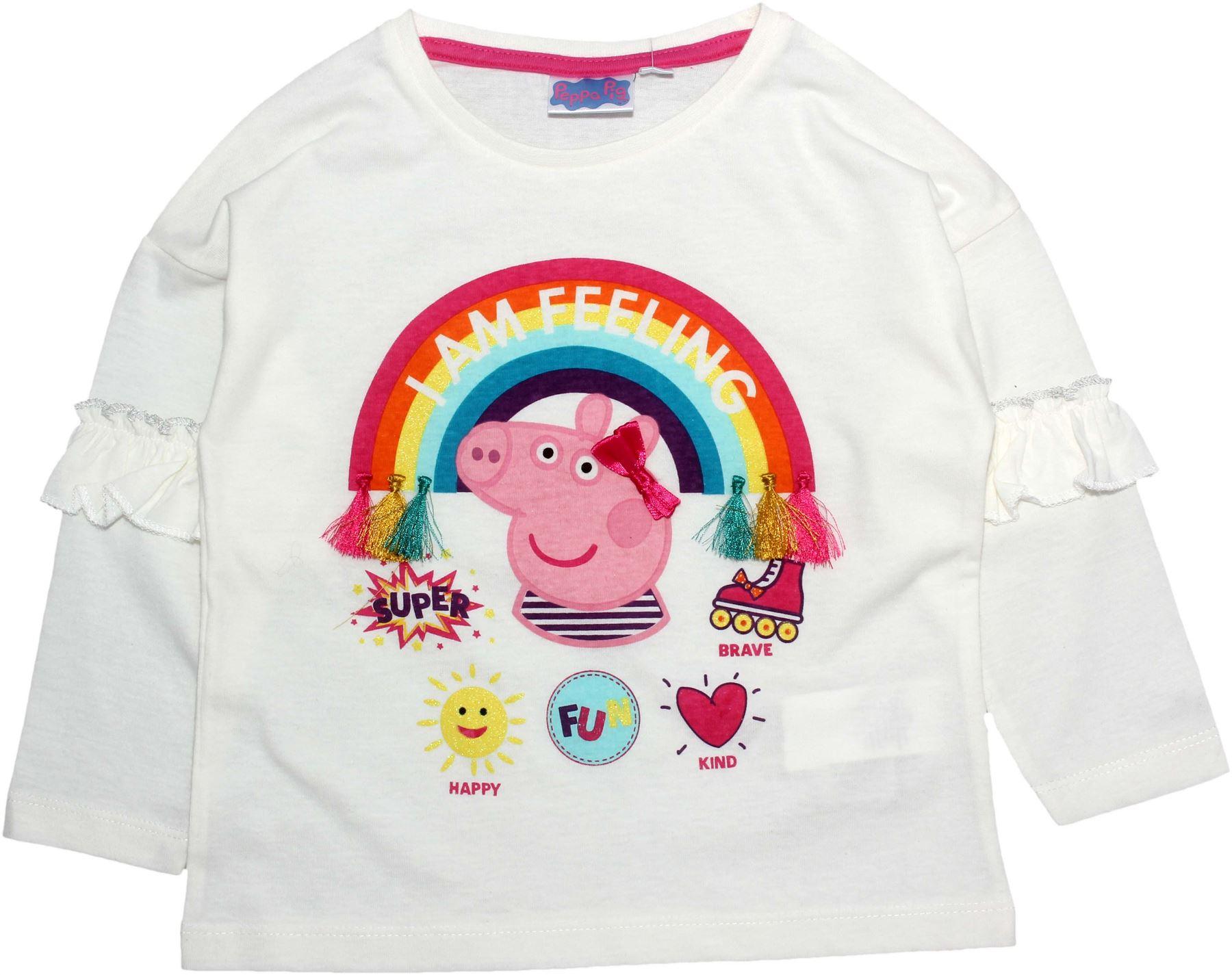 Peppa Pig Girls Rainbows Long Sleeve T Shirt