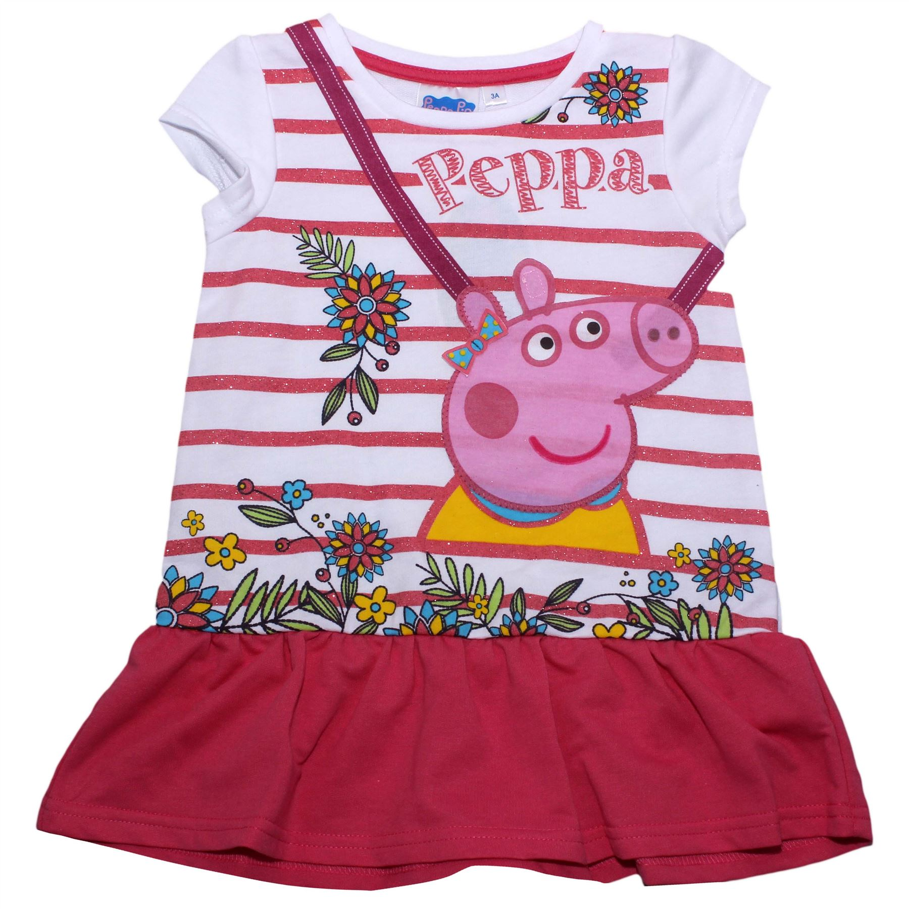 06496d90b68ce Details about Peppa Pig Girls Spring Flowers Childrens Dress - Spring  Summer Collection