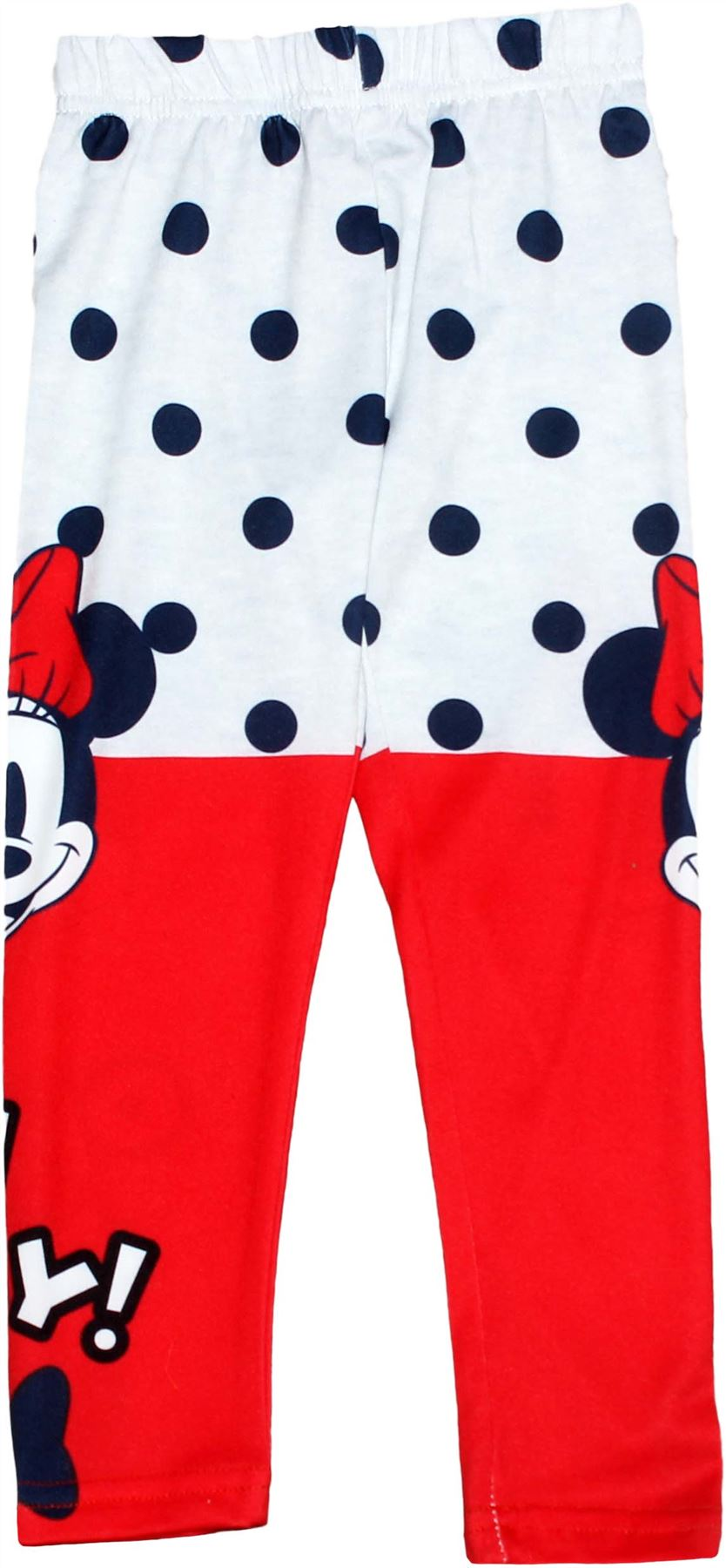 Disney Girls Leggings Bottoms Official Minnie Mouse 2-12 Years Comic Design