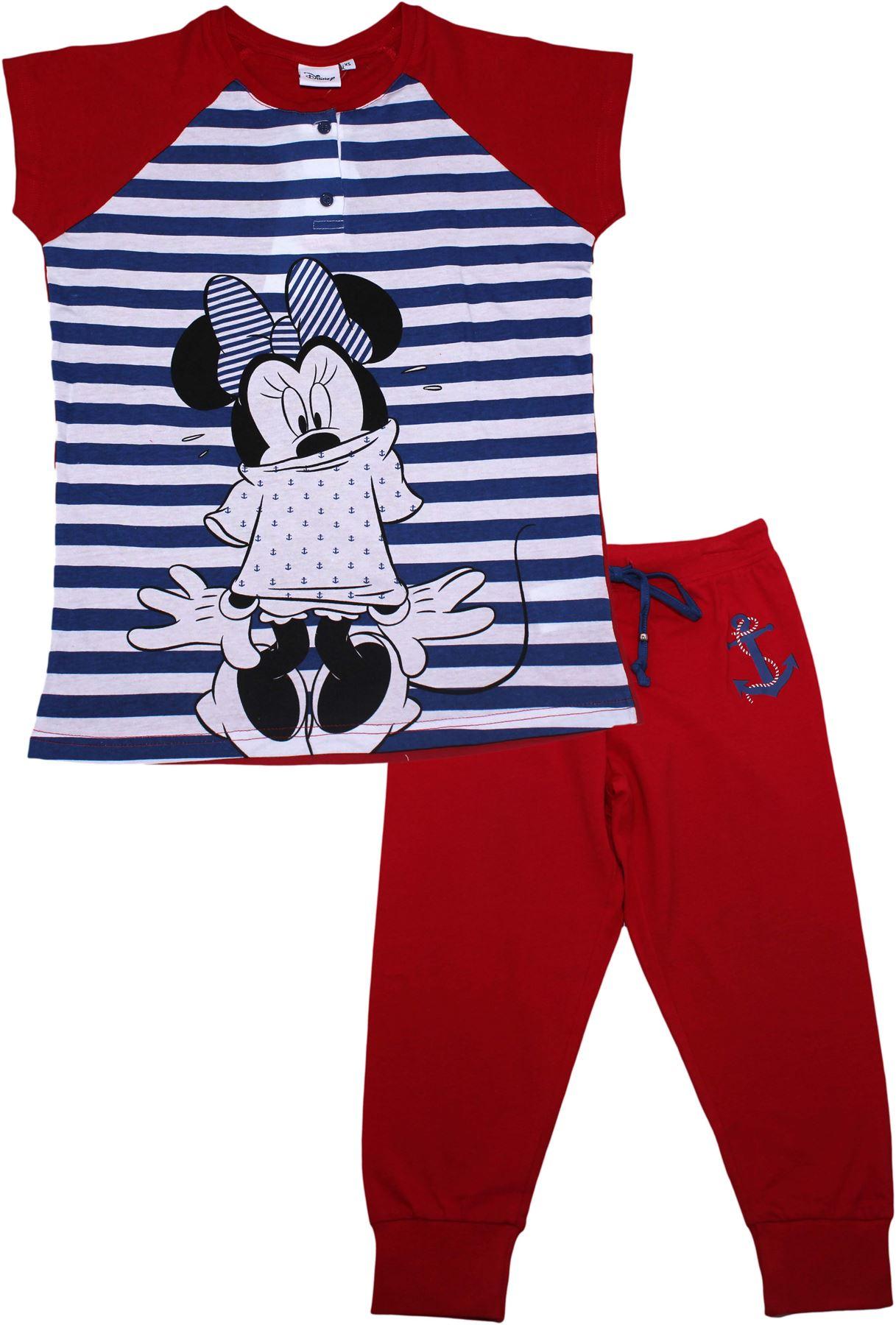 Womens Official Disney Minnie Mouse Short Sleeve Pyjamas Loungewear ...