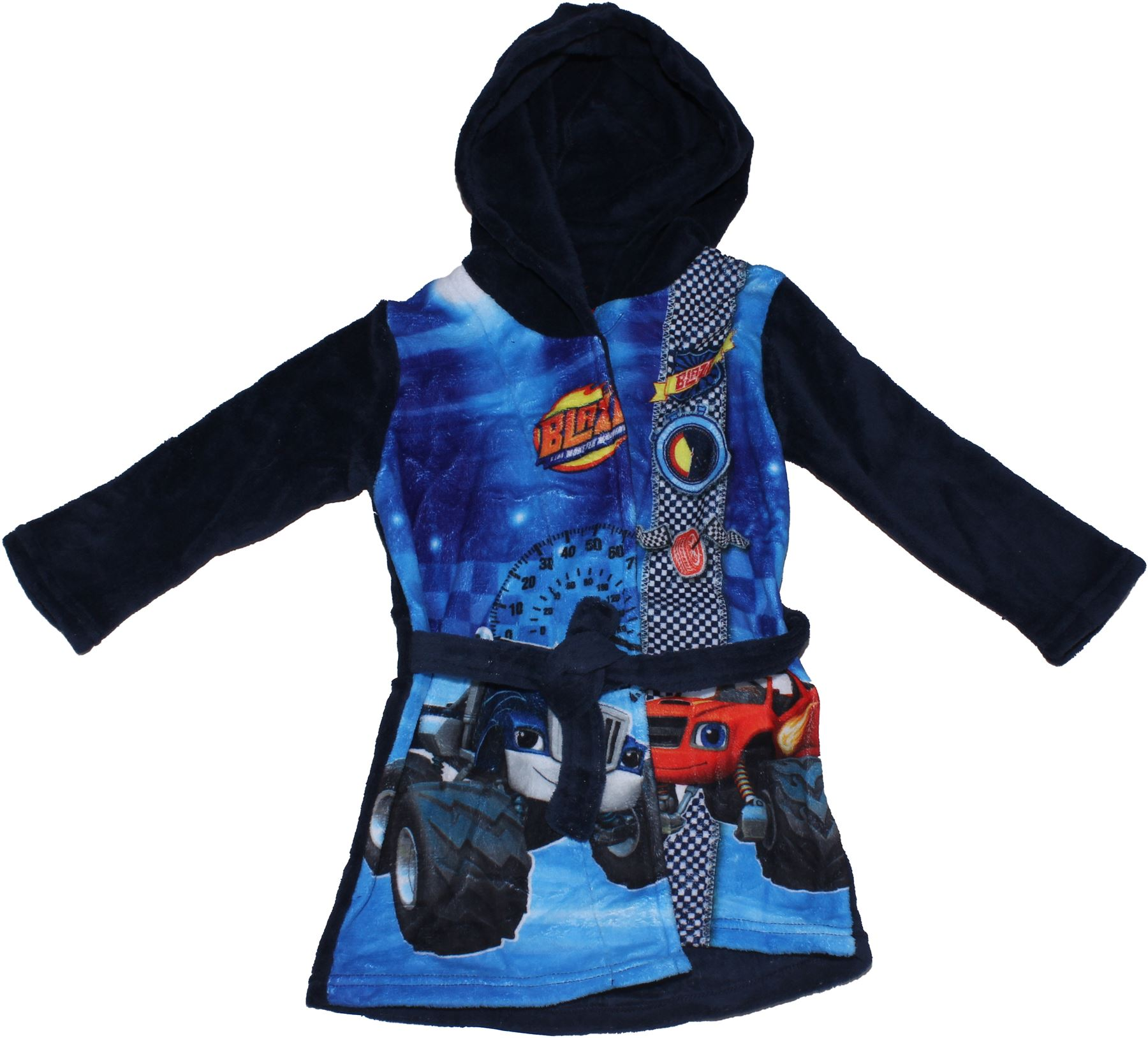 Blaze Monster Machines Panel Print Coral Fleece Hooded Bath Robe By ...