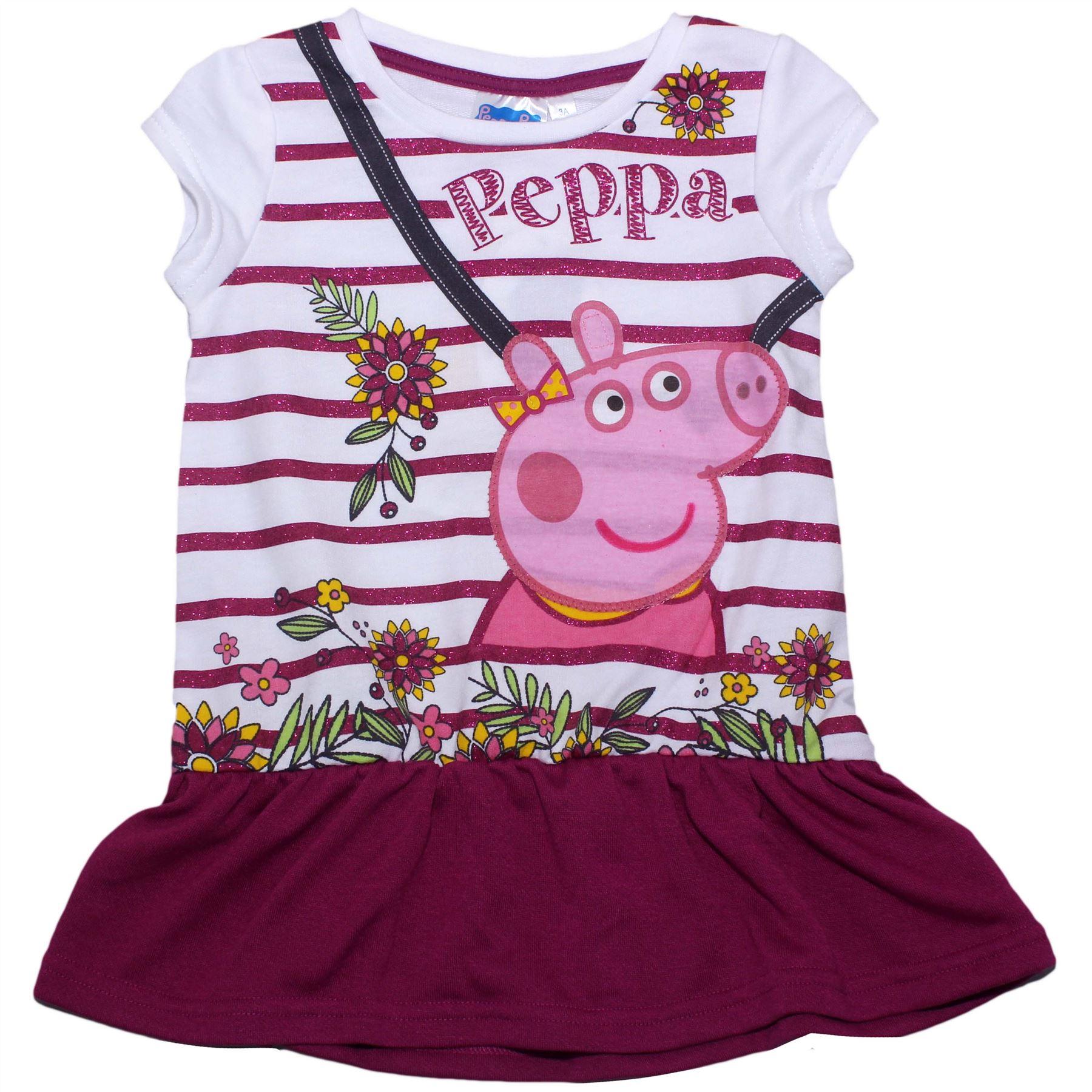 Peppa Pig Girls Spring Flowers Childrens Dress Spring Summer