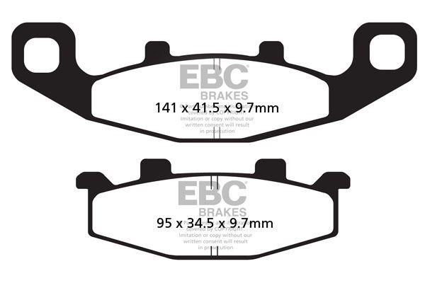 EBC plaquette de frein plaquettes de frein Brakepads fa129 avant Kawasaki KLE 250 a3 97