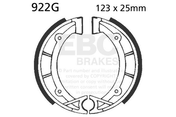 Fit Fantic 50 Caballero 83 Ebc Front Grooved Brake Shoes