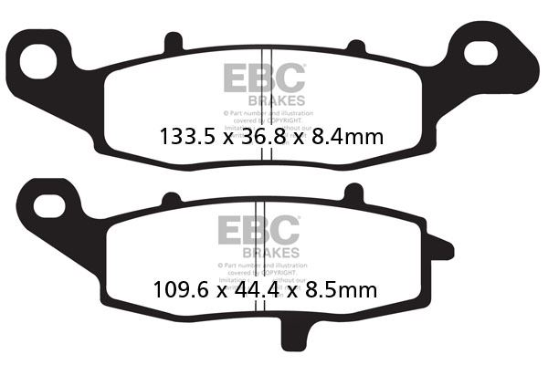 Semi Metal Rear Brake Pads For SUZUKI SV 650 03-08