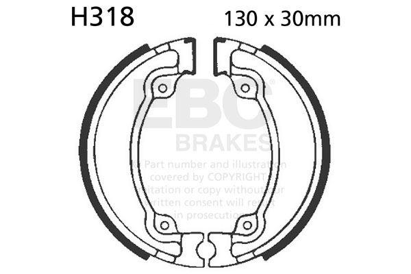Fit Honda Vt 125 Cx C8 Shadow 9908 Ebc Plain Shoe Rear Left