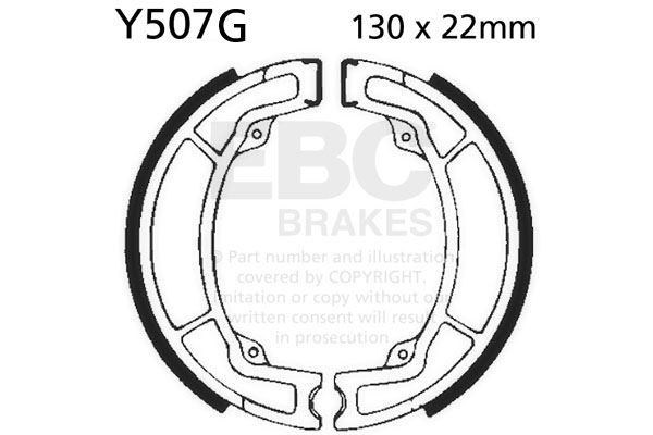 FIT YAMAHA TY 250 H 81 EBC FRONT GROOVED BRAKE SHOES