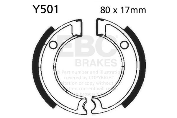 Fit Yamaha Ca 50 Salient 8385 Ebc Front Brake Shoe Set