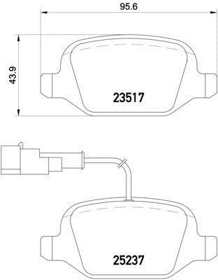 MDB1859 M1155 MINTEX Brake Pad Set disc brake front