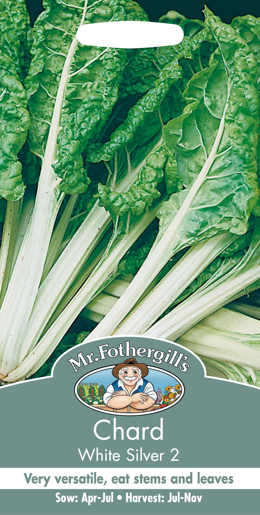 Chard White Silver 2-350 Seeds Pictorial Pack Vegetable Johnsons Seeds