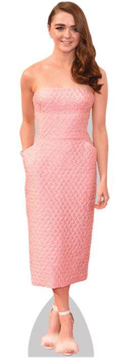 Maisie-Williams-Pink-Dress-Figura-de-carton-en-tamano-natural-o-reducido